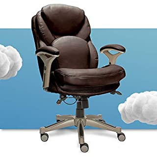 Serta Ergonomic Executive Office Chair Motion Technology Adjustable Mid Back Design with Lumbar Support, Chestnut Bonded Leather (B075DC1KB9) | Amazon price tracker / tracking, Amazon price history charts, Amazon price watches, Amazon price drop alerts
