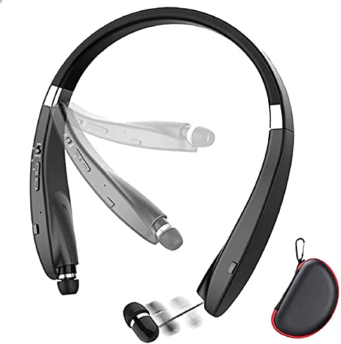 Foldable Bluetooth Headset, Beartwo Lightweight Retractable Bluetooth...