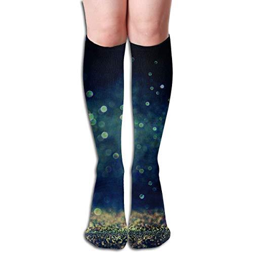 Mabell Night Water Drops Design Elastic Blend Long Socks Compression Knee High Socks (50cm) for Sports
