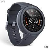 Amazfit Verge LITE Xiaomi Smartwatch Deportivo - Batteria 20h | GPS + GLONASS | Sensore di frequenza cardiaca | IP68 resistenza all'acqua | Notifiche-Music | Gray (International Version) iOS-Android