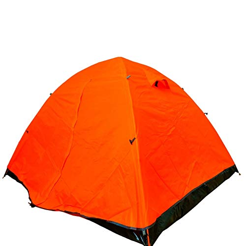Tent 4 Season Single One Two Person Easy Up Lightweight Waterproof Ultralight Double Layer for Backpacking Camping Hiking Water-Resistant Ventilated and Durable (Color : Orange)