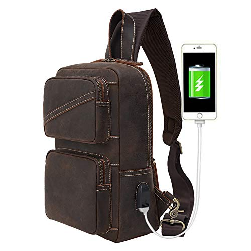 Best Leather Sling Bag With Water Bottle Holder