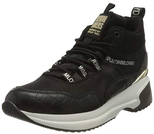 Replay RIBERS, Zapatillas Mujer, 003 Black, 41 EU