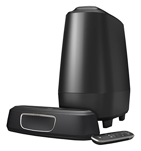 Polk Audio MagniFi Mini - Barra de Sonido y Subwoofer Inalámbrico, con Asistente de Google, Bluetooth, color Negro