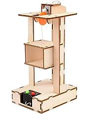 TOYANDONA Juguete de ascensor, mando a distancia, equipo físico, grúas, ascensores, modelo de tecnología educativa, pequeño tallo, montaje de ciencia, kit de experimentos (sin batería)