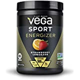Vega Sport Energizer, Strawberry Lemonade Pre-Workout Energy Drink - Certified Vegan, Vegetarian, Gluten Free, Dairy Free, Soy Free, Non GMO, Natural Pre Workout Powder (18 Servings, 11.3 Oz)