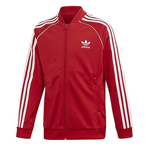 adidas Superstar Top Sweatshirt, Unisex niños, Scarlet/White, 7-8Y