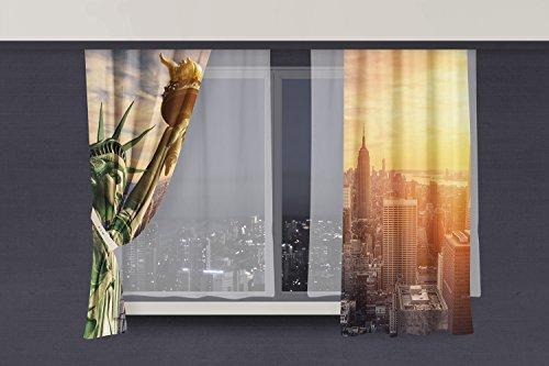 Cortina Estatua de la Libertad   Varias Medidas 140 x 140 cm
