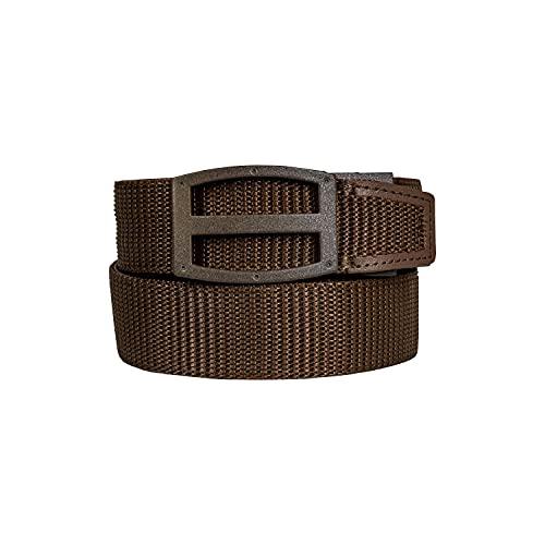Nexbelt Ratchet Technology EDC Titan Dark Brown PreciseFit Nylon Gun Belt for Concealed Carry Unisex, Large