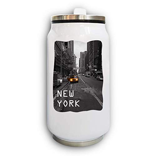 Iprints New York Yellow Taxi Graphic Thermal Beverage Can thermoskan