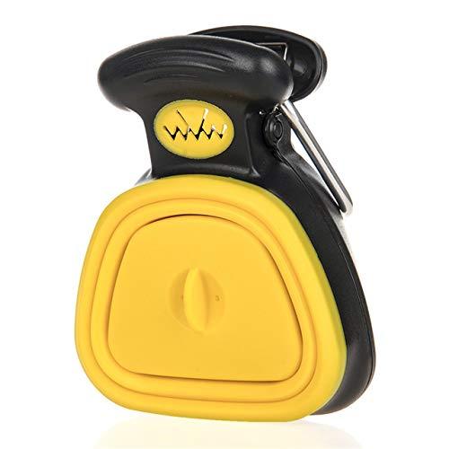 GPOL Hundekotschaufel, zusammenklappbar, für Reisen, Small, gelb