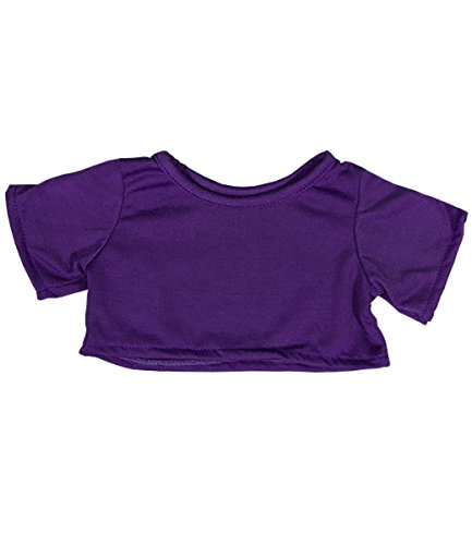 Purple T-Shirt Outfit Teddy Bear Clothes Fit 14