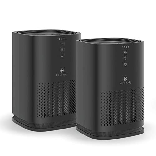 Medify air ma-14-b2 air purifier with h13 hepa filter - a higher grade of hepa for 200 sq. Ft. (99. 9%) allergies, dust, pollen, perfect for office, bedrooms, dorms and nurseries - black, 2-pack