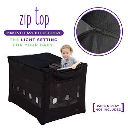 Milliard Darkening Tent for Pack N Play, Breathable Baby Netting Shade/Canopy with Safety Vents (Tent Only, Does Not Include Pack N Play) Exclusive Safe Attachment System