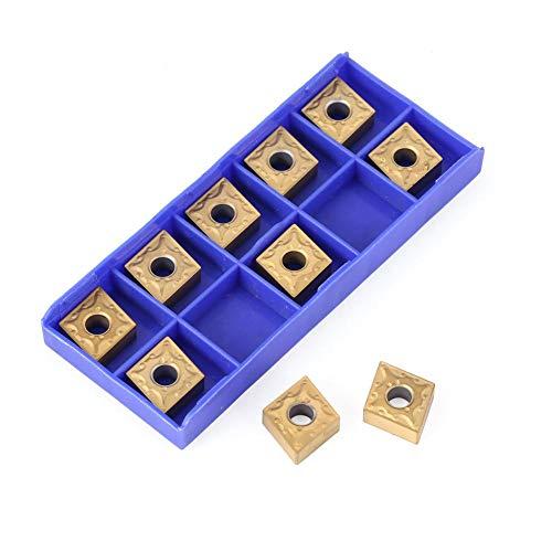 Matefield CNMG120404 hardmetalen frees voor het inleggen van de freesbladen om te draaien, 10 stuks azul claro