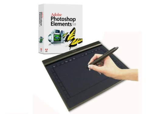 """Adesso CT-Z12A 10""""x6"""" Widescreen Ultra Slim Graphics Tablet with Adobe Photoshop Elements 7.0"""