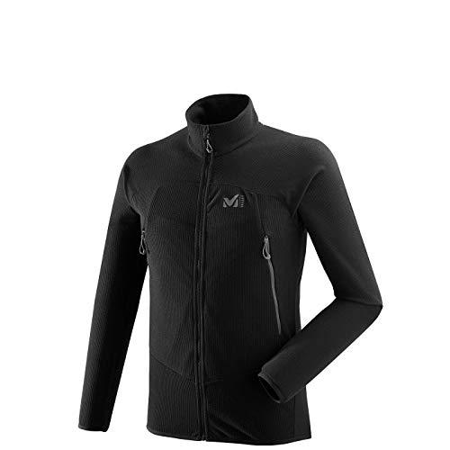 Millet - K Lightgrid JKT M - Leichte Fleece-Jacke für Herren - Alpinismus, Bergsteigen, Wandern, Lifestyle - Schwarz