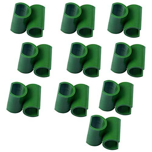 buycheapDG(JP) プラントサポート コネクタ ガーデンツール 固定 プラントステークジョイント 園芸ラック 11mm×10個 プラントサポート 温室フレーム 棚 プラスチック製 温室アクセサリ− フラワースタンド
