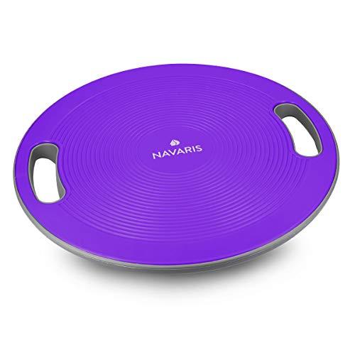 Navaris Pedana Propriocettiva Balance Board - Pedana per Esercizi Equilibrio Tavoletta per Propriocettività Tavola Fitness Ø 40cm - Viola