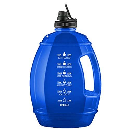 Eariy Fitness Trinkflasche,Wasserflasche mit BPA Frei,Bisphenolfrei,Sportflasche mit Zeitmarkierte,einzigartiges Design,Auslaufsicher,Wiederverwendbare,für Fitness,Yoga,Camping,Outdoor (Blau)