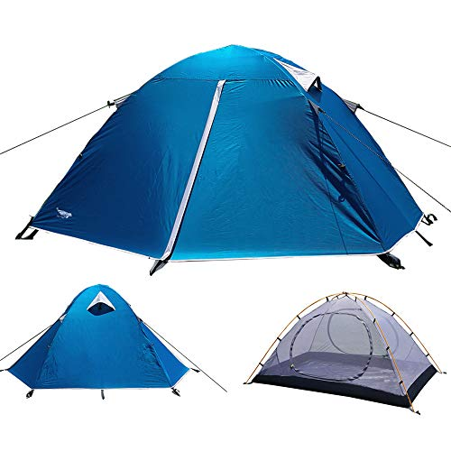 Luxe Tempo Backpacking 2 Person Tents for Camping with with Rainfly 3-4 Season 2 Doors 2...