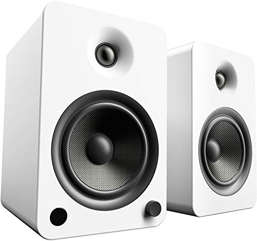 Kanto YU6 Powered Speakers with Bluetooth and Phono Preamp | Matte White | Pair