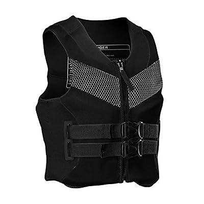 Heavy Zipper Life Vest for Adult with Quick Release Buckle, Kayak Aid Life Jacket for Women, Men, Buoyancy Fishing Boat Watersport Swim Equipment