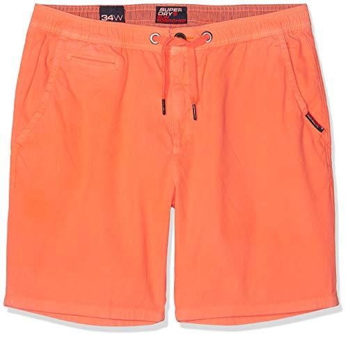 Superdry Herren Sunscorched Shorts, Orange (Fluro Coral Mmf), W(Herstellergröße: 34)