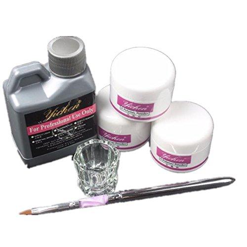 Pro Simply Nail Art Kits Acrylic Liquid Powder Pen Dappen dish Tools Set,HOMEBABY (Colorful)