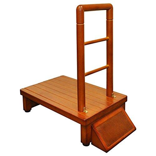 ベルソス 手すり付 玄関台 踏み台 (60cm)