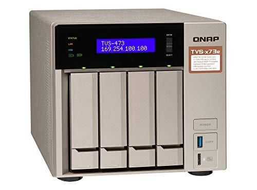 QNAP TVS-473e-4G Desktop NAS Gehäuse mit 4 GB DDR4, Powerful 4-Bay Storage Server