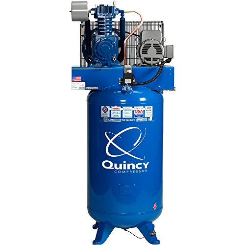 Quincy QT-5 Splash Lubricated Reciprocating Air Compressor -...