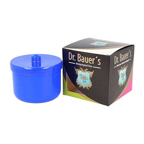 Dr. Bauer´s Reinigungsbad-Dose mit Klarspüleinsatz   Prothesendose   Gebissdose   Prothesendose mit Einsatz   Zahnspangendose (blau)