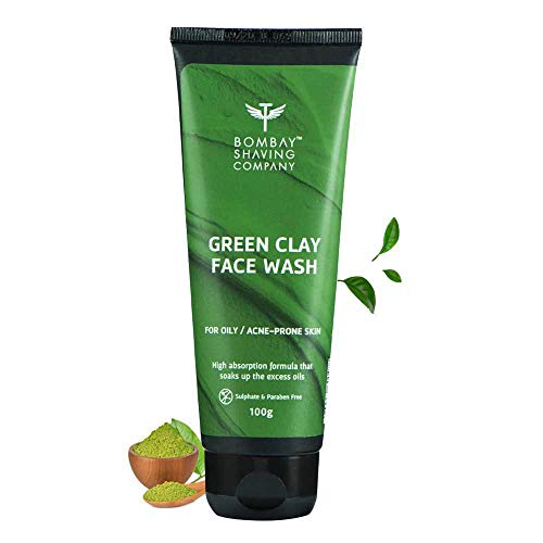 Bombay Shaving Company Green Clay Face Wash for Men and Women- Acne Prone and Oily Skin (Made in India)