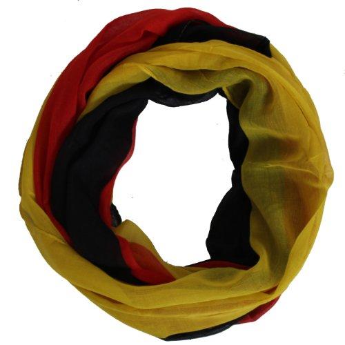 Brubaker Écharpe-tube pour supporter, aux couleurs nationales allemandes, noir/rouge/or, 80 x 160 cm