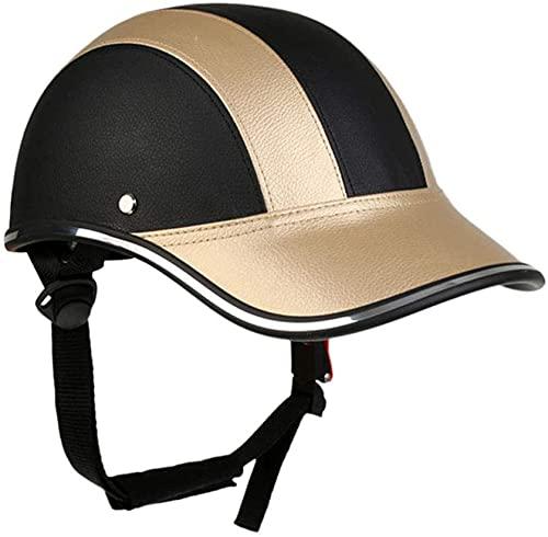 F&FSH· New Motorcycle Half Helmet Sun Visor Quick Release Buckle Baseball Cap Helmet DOT Certified Moped Riding Helmet Men's Women's (54-62 Cm)