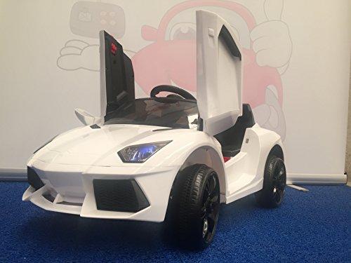 ATAA CARS Lamborghini Style 12v Voiture électrique pour Enfants avec Batterie 12 Volts et télécommande - Blanc