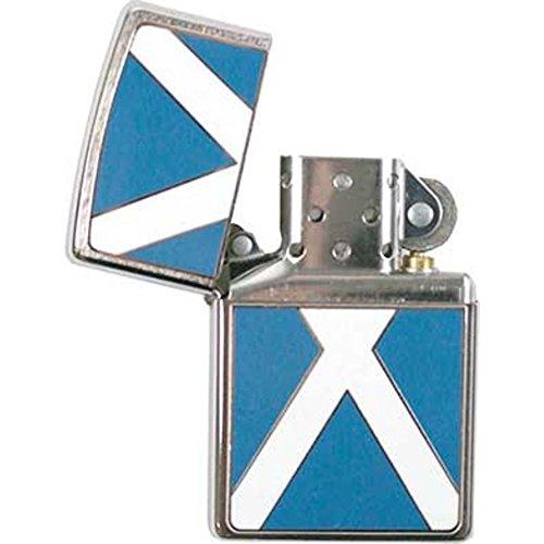 Zippo Scottish Flag Lighter, Accendino Bandiera Scozzese Unisex-Adulto, Blu/Bianco/Argento, Taglia Unica