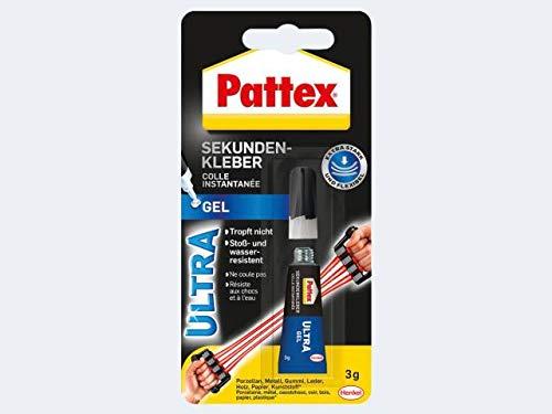 Pattex SekundenAlleskleber Ultra Gel, 3 g Tube 4015000415040