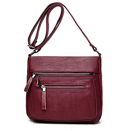 Material:This purse made of high quality superior PU leather,good toughness,smooth surface, delicate touch.With polyester fabric lining features and very smooth metal zippers. Demension: 10.6*5.5*8.6inch(L*W*H),weight:1.32lb.This medium multifunction...