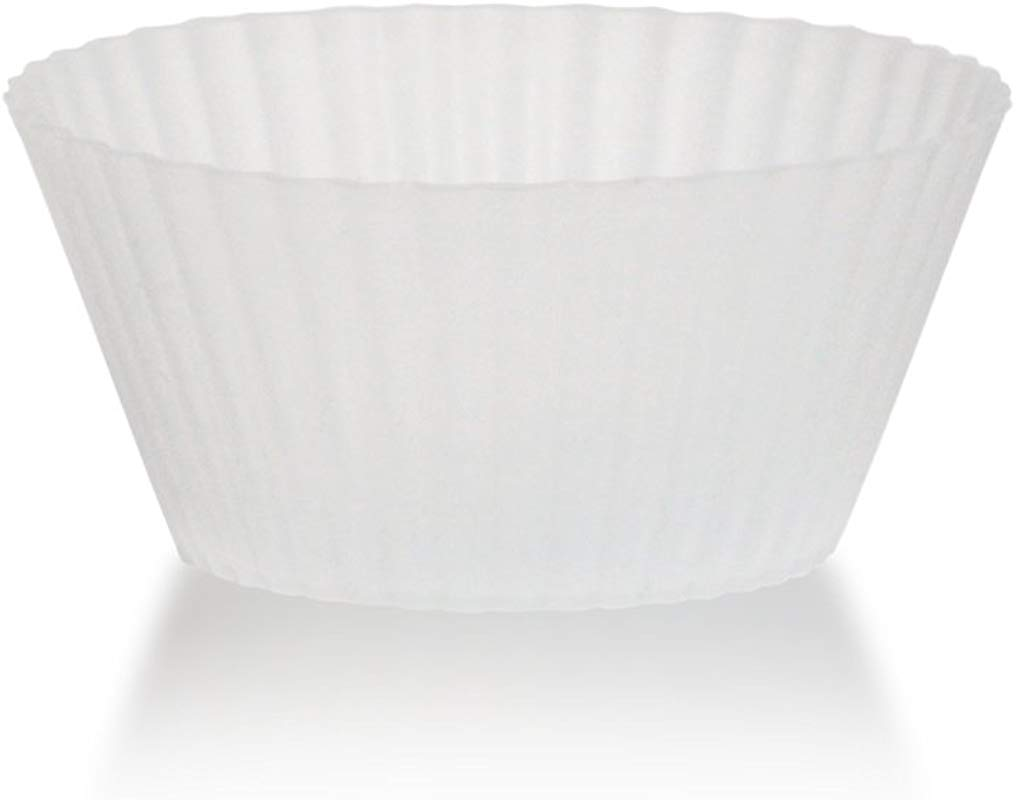 Siliconies Clear Silicone Baking Cups 12 Ct Reusable Muffin Cups Cupcake Liners No Fillers No Colorants Dishwasher Oven Microwave Safe