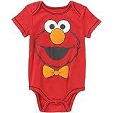 Sesame Street Oscar The Grouch Grouchy Baby Boys Bodysuit (Newborn, Red)