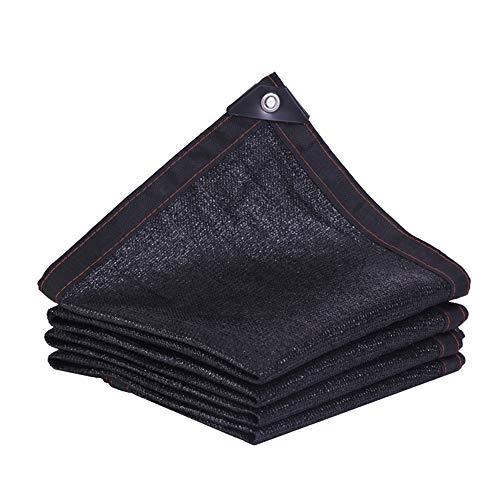 Shading net YXLZ parasol 2 x 2 M zwart schaduwdoek ultraviolet 80%, geschikt voor broeikas, pergola, canile, vegetalafdekking, carport,Area grill