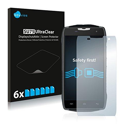 Savvies 6X Schutzfolie kompatibel mit Doogee T5 Lite Bildschirmschutz-Folie Ultra-transparent