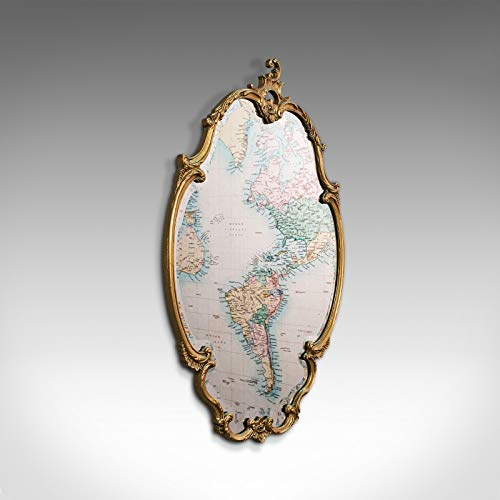 Espejo de pared grande, inglés, dorado, cristal, Overmantel, Hall, sabor rococó