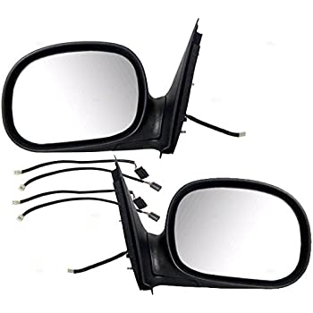 Amazon Com Pair Set Power Side View Contour Mirrors W Adapters Replacement For Ford F 150 Heritage F 250 Pickup Truck F85z17683fab F85z17682faa Autoandart Automotive