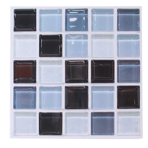 Esenlong 6 pegatinas de pared para decoración de pared, mosaico 3D, autoadhesivas, pegatinas a prueba de aceite, decoración de baño para cualquier superficie lisa