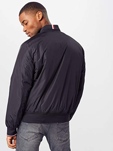 Tommy Hilfiger Padded Bomber Chaqueta Deportiva, Negro (Black Bds), Small para Hombre