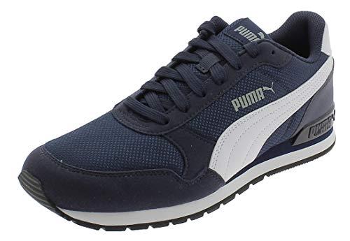 PUMA Unisex Adult ST Runner v2 Mesh Sneaker, Blau Peacoat White, 38 EU