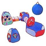 Primevolve 5 en 1 Tienda Campaña Infantil: Piscina de Bolas + Casita Infantil + Tunel Infantil, Parques Infantiles de Exterior Interior, Juguetes Niños Niñas Bebes(Bolas No Incluidas)